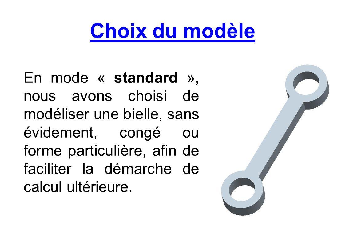 Choix du modèle