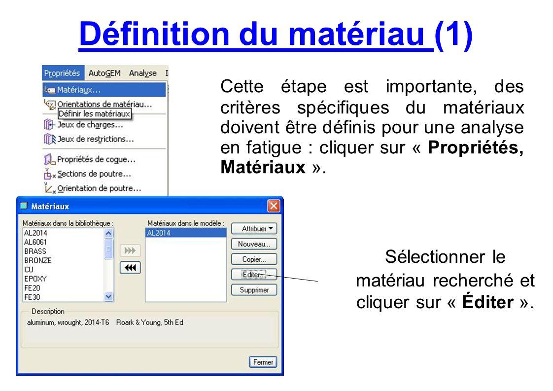 Définition du matériau (1)