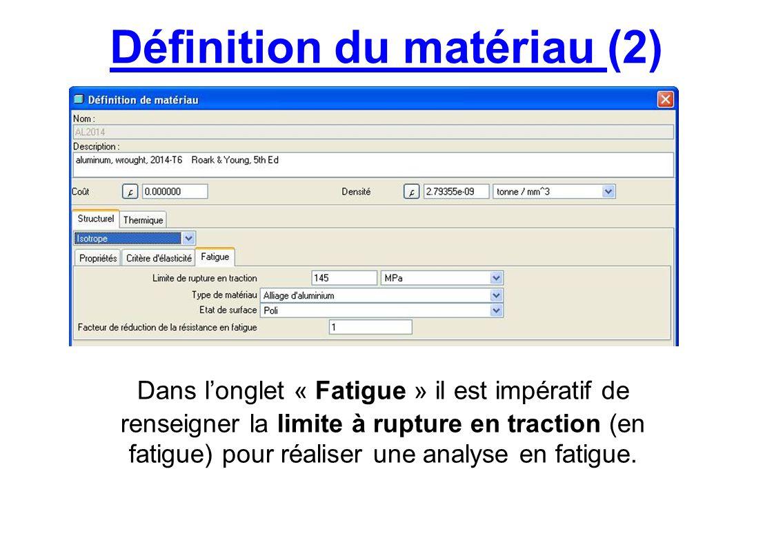 Définition du matériau (2)
