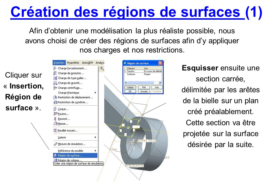 Création des régions de surfaces (1)