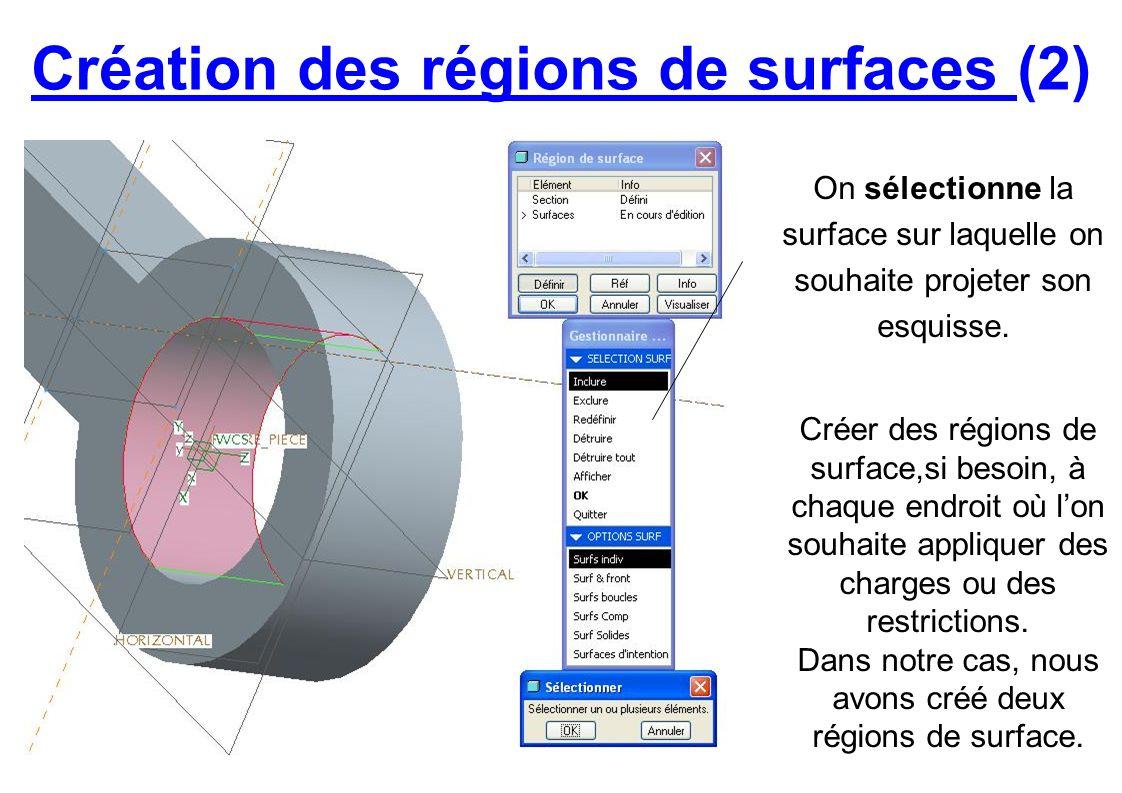 Création des régions de surfaces (2)
