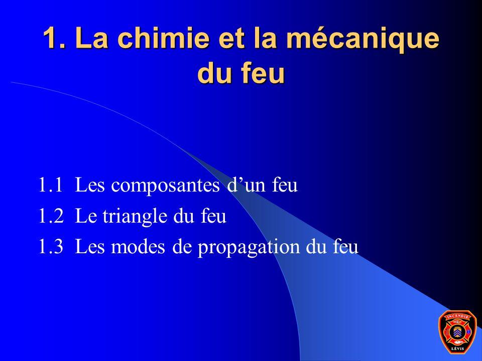 1. La chimie et la mécanique du feu