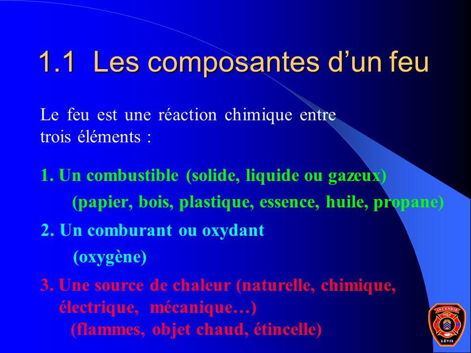 1.1 Les composantes d'un feu