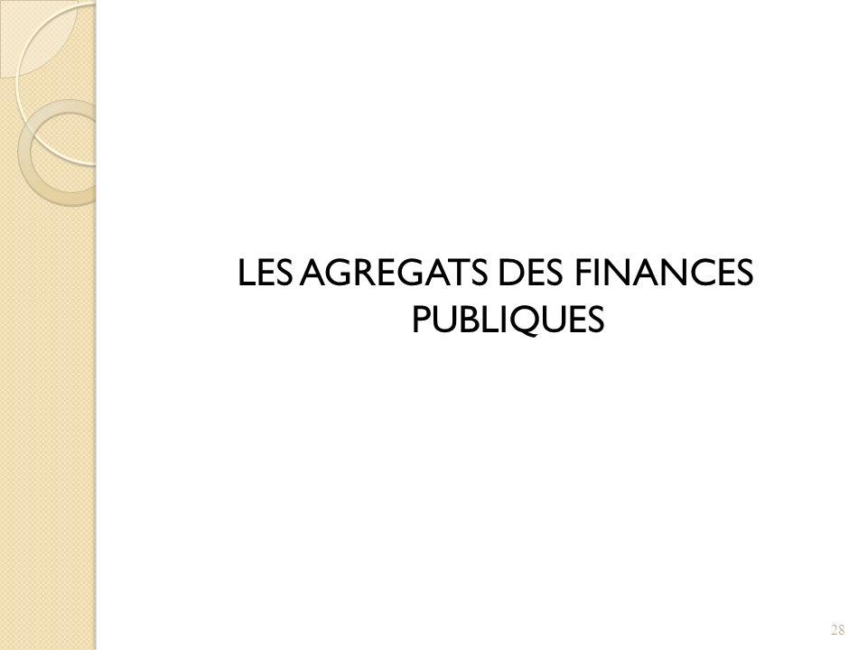 LES AGREGATS DES FINANCES PUBLIQUES