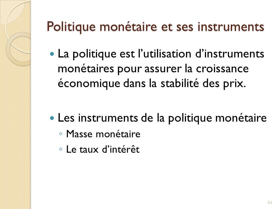 Politique monétaire et ses instruments