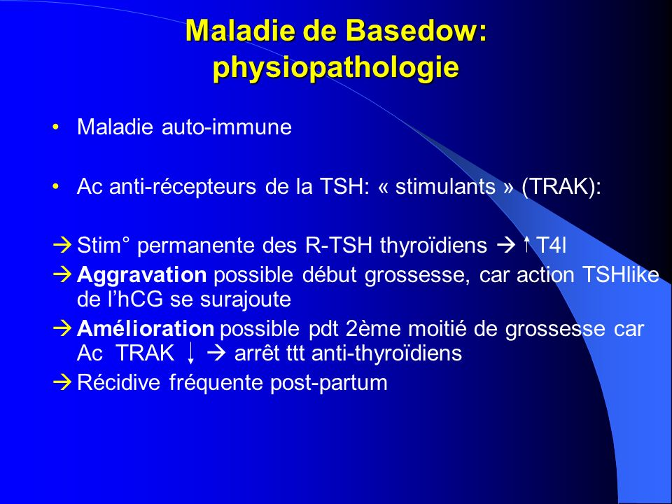 Maladie de Basedow: physiopathologie
