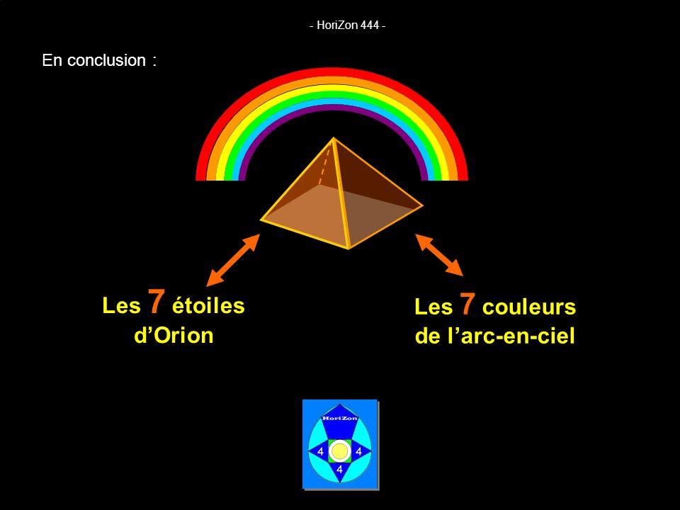 Les 7 couleurs de l'arc-en-ciel