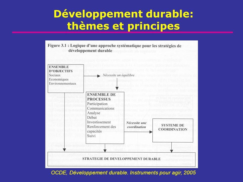 Développement durable: thèmes et principes