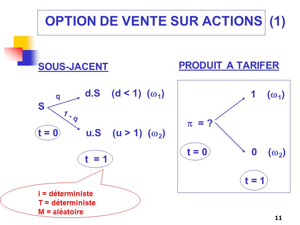 OPTION DE VENTE SUR ACTIONS (1)