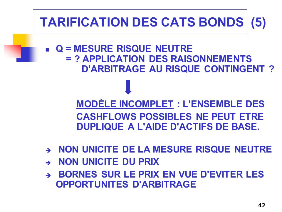 TARIFICATION DES CATS BONDS (5)