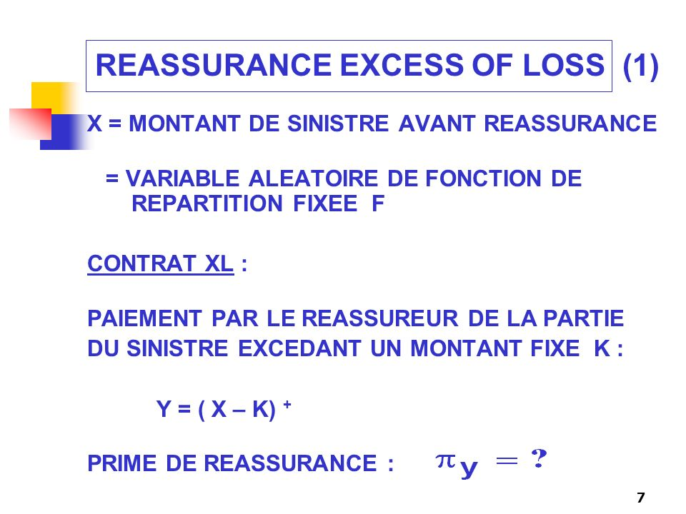 REASSURANCE EXCESS OF LOSS (1)