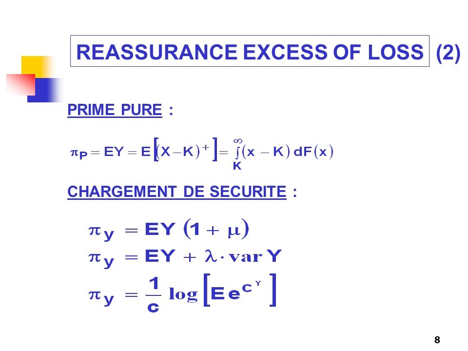 REASSURANCE EXCESS OF LOSS (2)