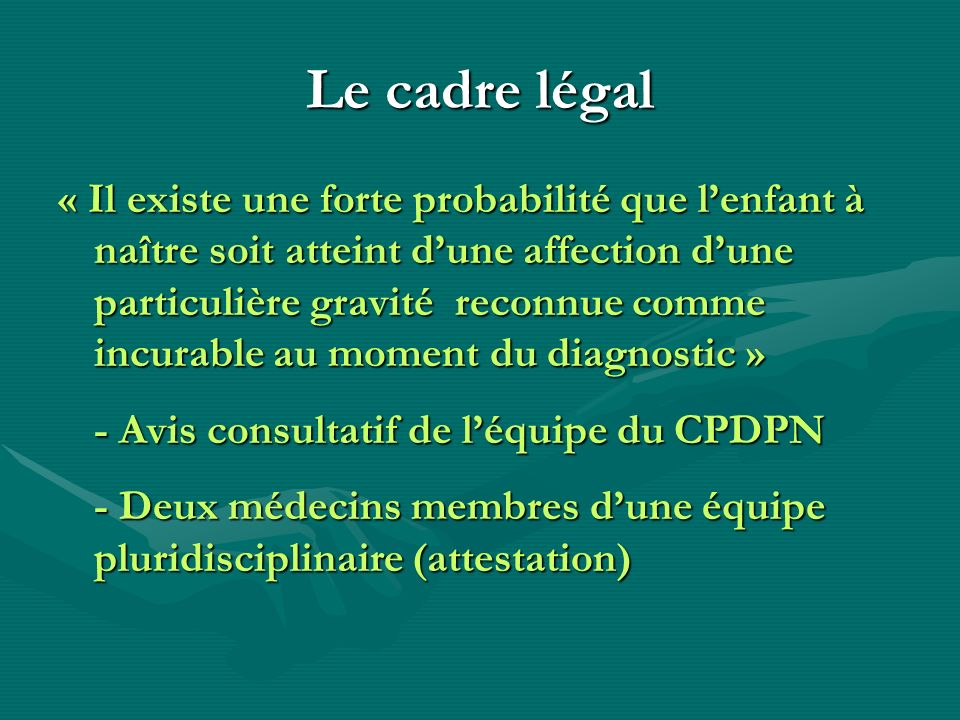 Le cadre légal