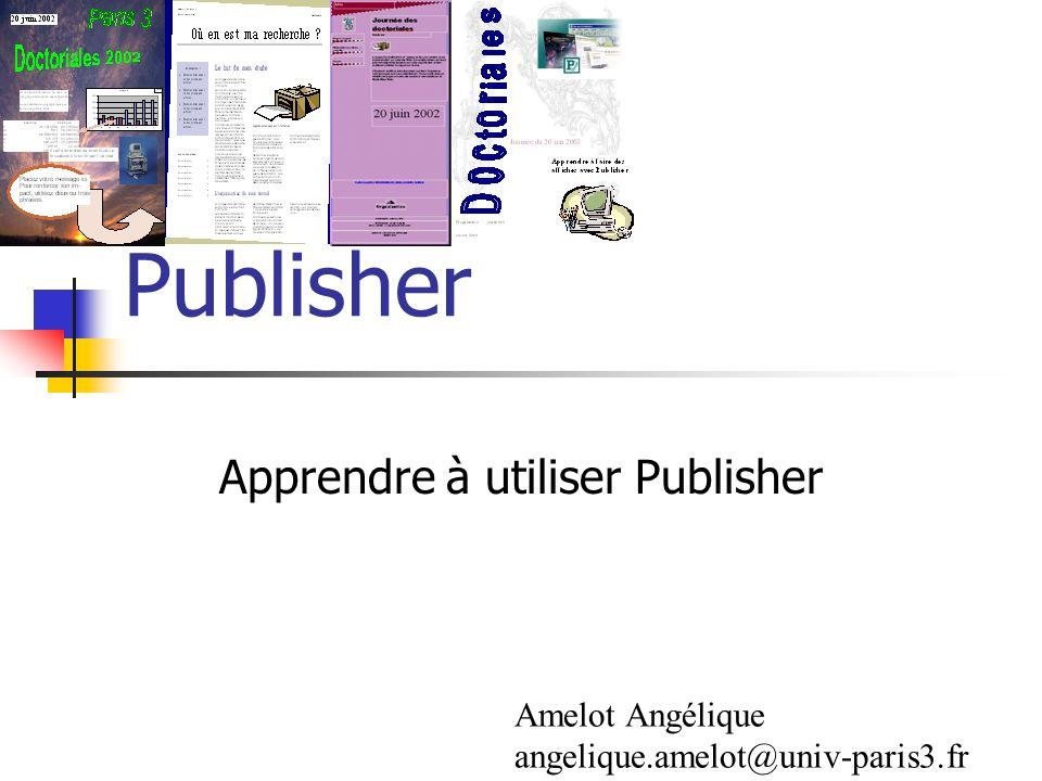 Apprendre à utiliser Publisher