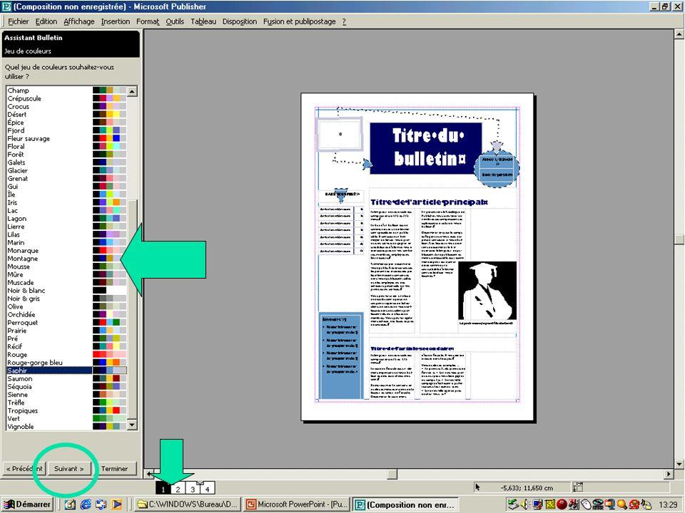 Créer une composition à partir de l'assistant & les modèles