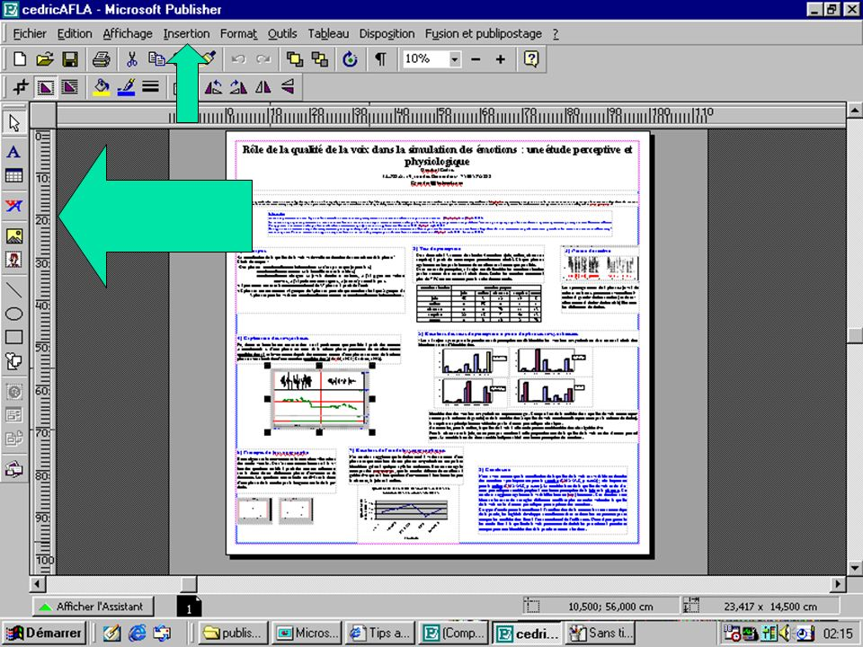 Ecrire, utiliser les cadres de tableau pour disposer des informations en lignes et en colonnes