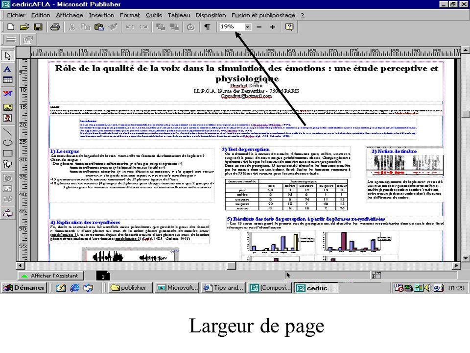 Largeur de page