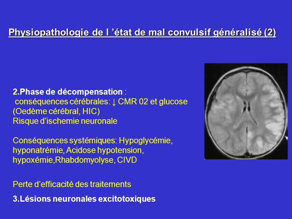Physiopathologie de l 'état de mal convulsif généralisé (2)