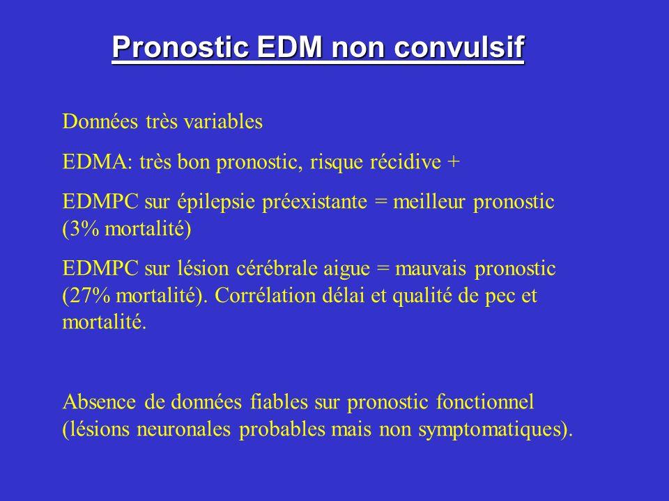 Pronostic EDM non convulsif