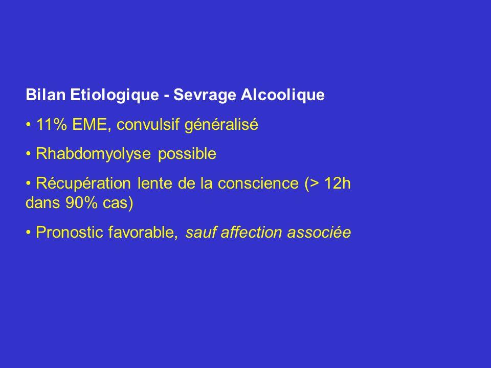 Bilan Etiologique - Sevrage Alcoolique