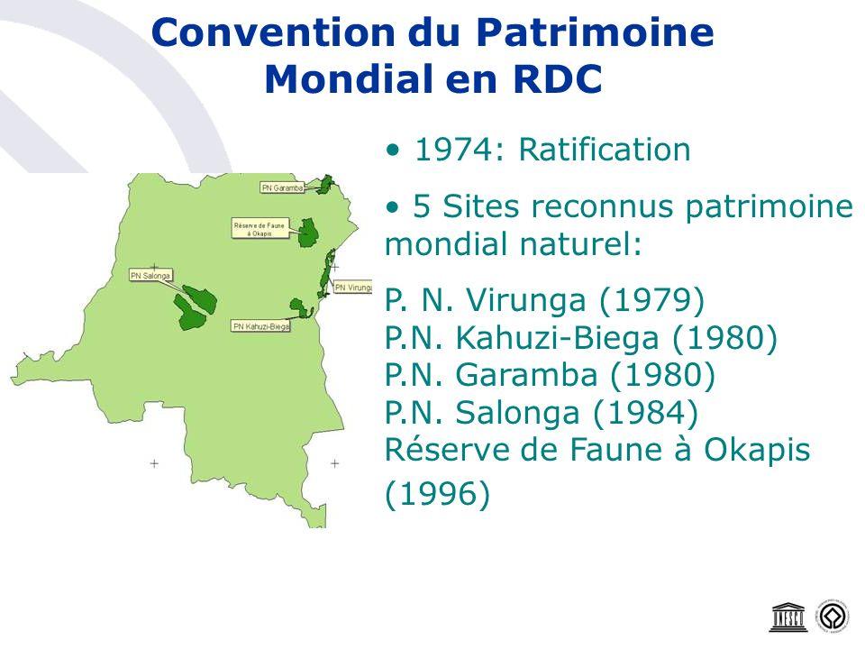 Convention du Patrimoine Mondial en RDC