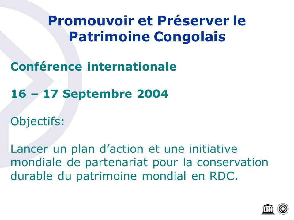 Promouvoir et Préserver le Patrimoine Congolais
