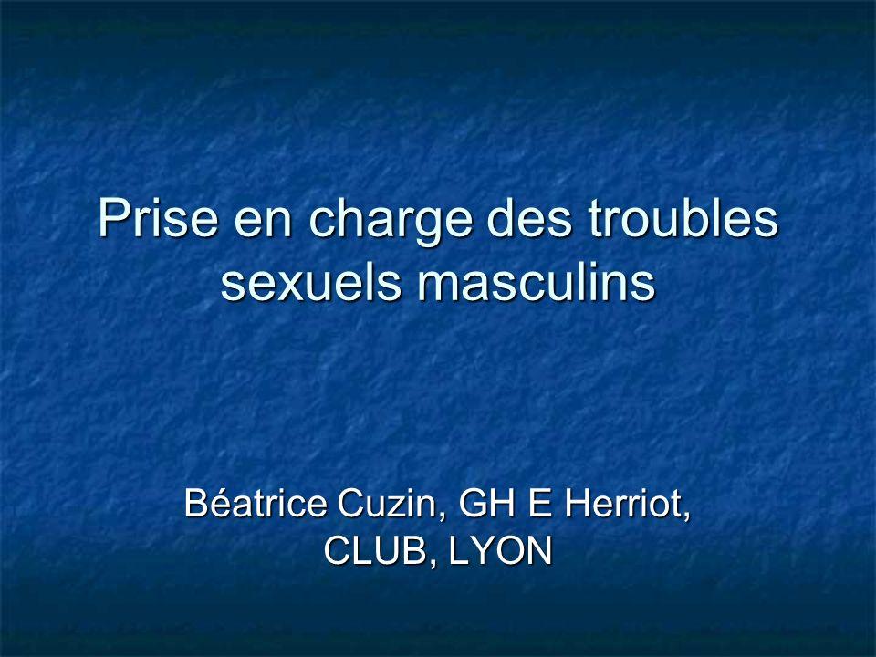 Prise en charge des troubles sexuels masculins