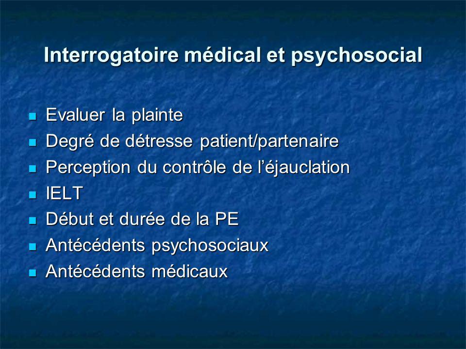Interrogatoire médical et psychosocial