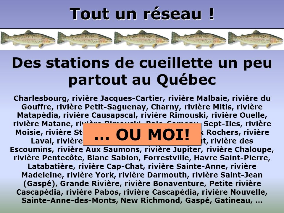 Des stations de cueillette un peu partout au Québec