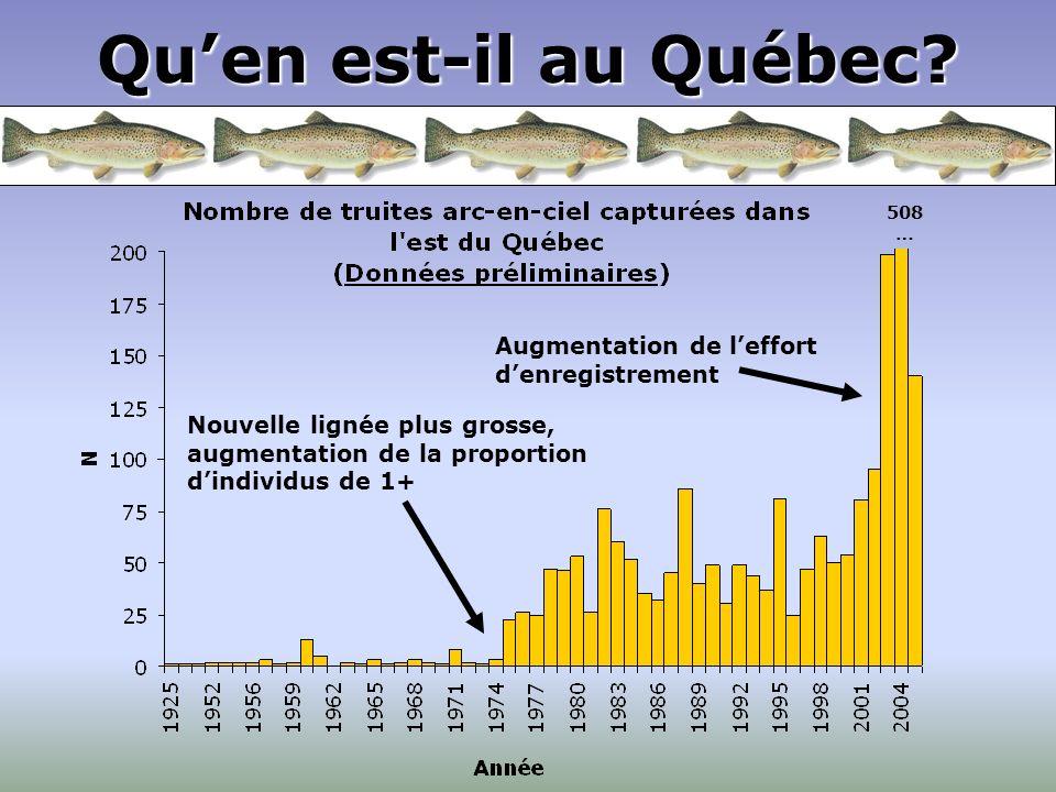 Qu'en est-il au Québec Augmentation de l'effort d'enregistrement