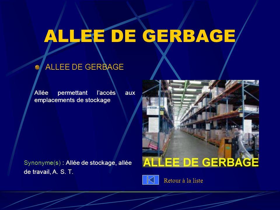 ALLEE DE GERBAGE ALLEE DE GERBAGE