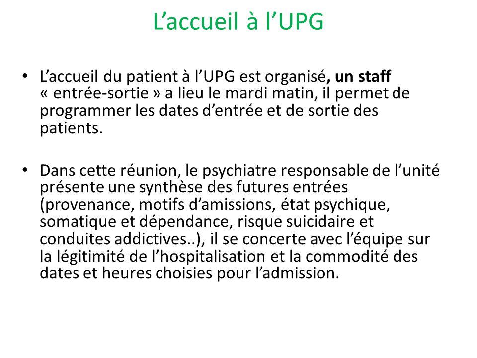 L'accueil à l'UPG