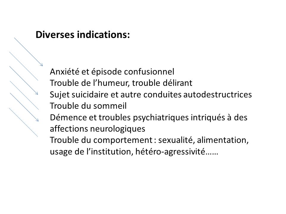 Diverses indications: