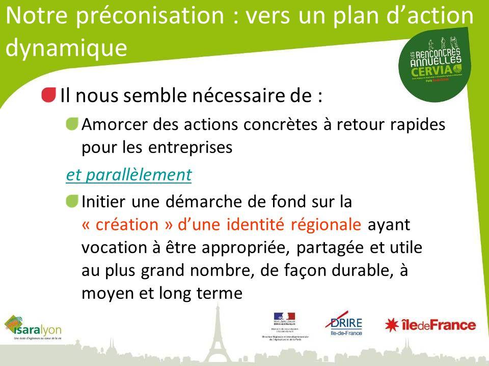 Notre préconisation : vers un plan d'action dynamique