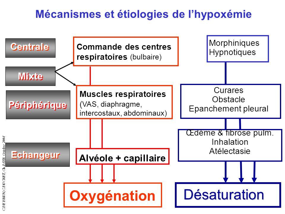 Mécanismes et étiologies de l'hypoxémie