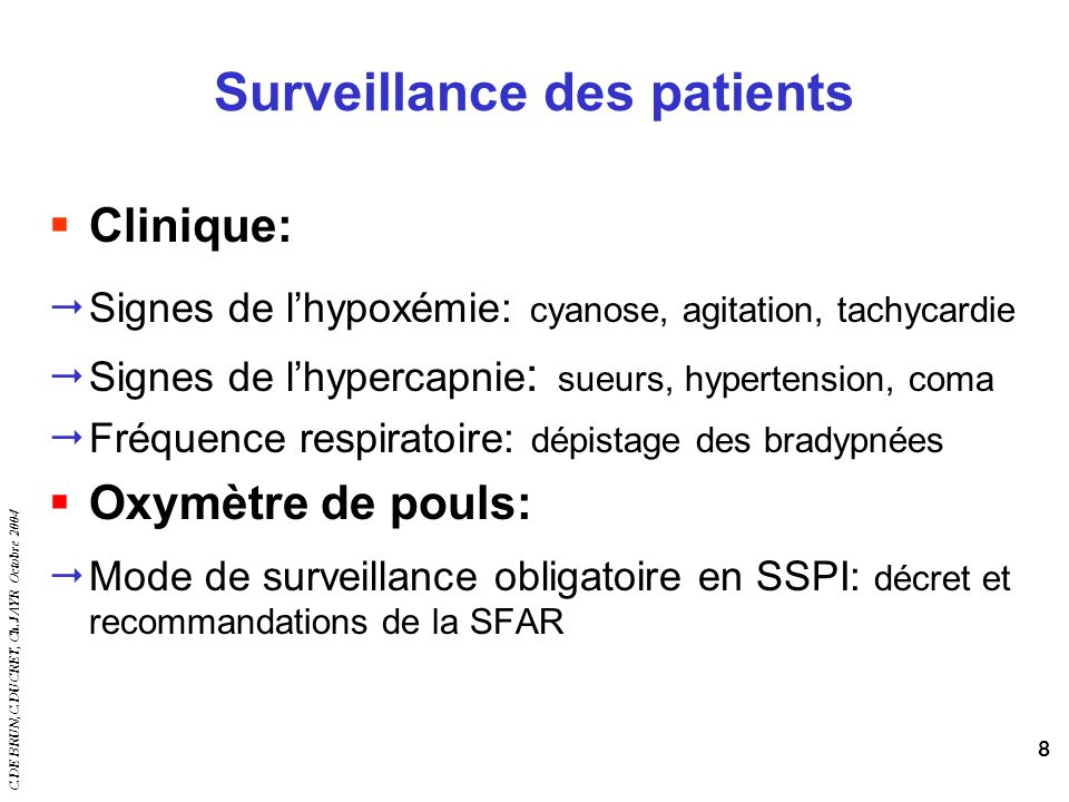 Surveillance des patients