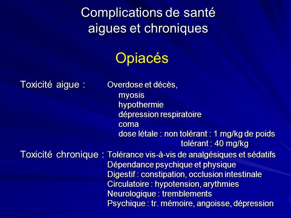 Complications de santé aigues et chroniques
