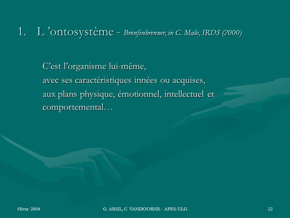G. ABSIL, C. VANDOORNE - APES-ULG