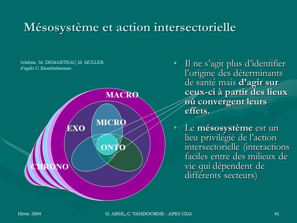 Mésosystème et action intersectorielle