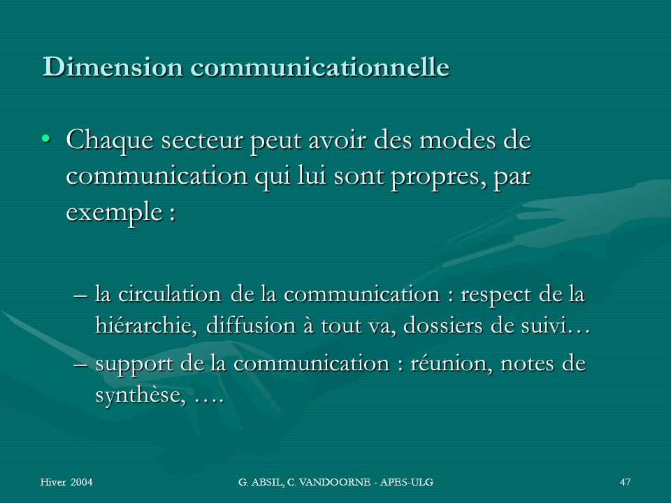 Dimension communicationnelle