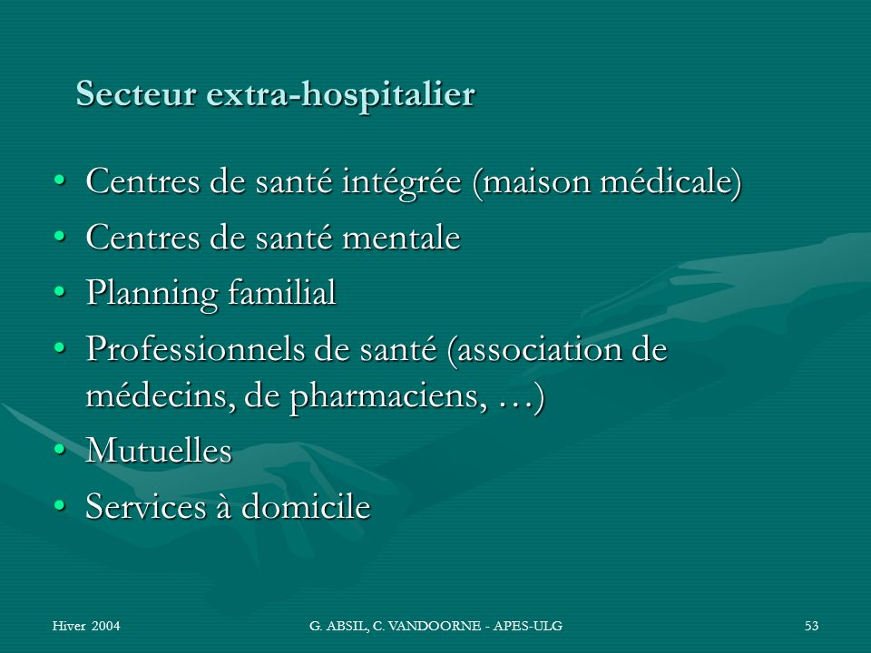 Secteur extra-hospitalier