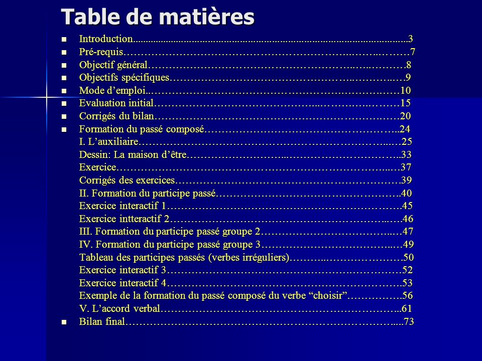 Table de matières Introduction........................................................................................................3.