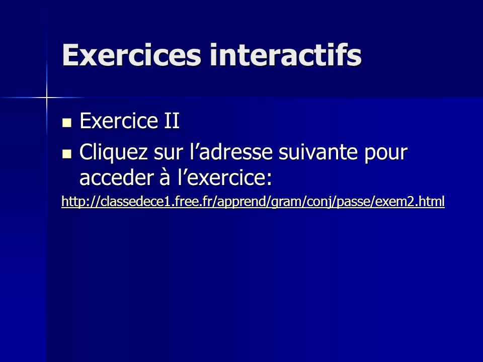 Exercices interactifs