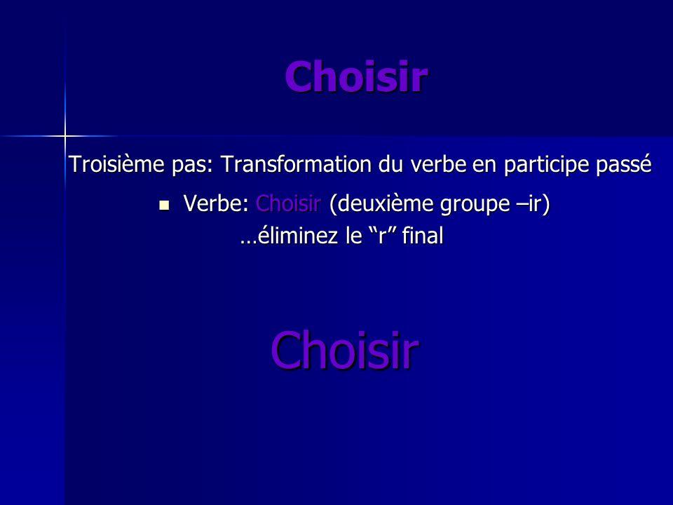 Choisi Choisir Choisir