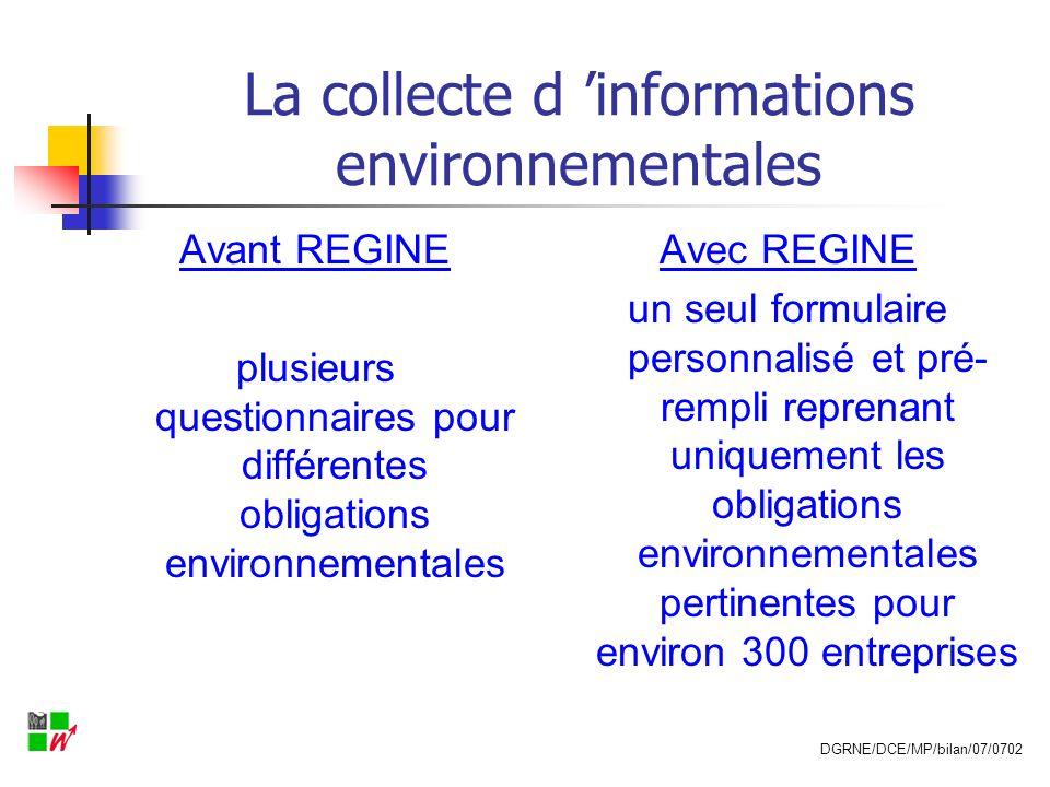La collecte d 'informations environnementales