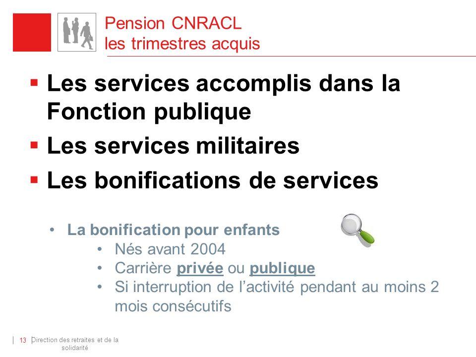 Pension CNRACL les trimestres acquis