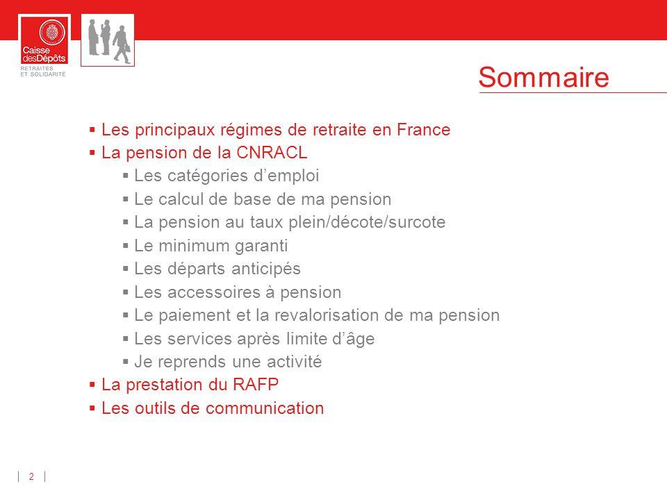Les principaux régimes de retraite en France