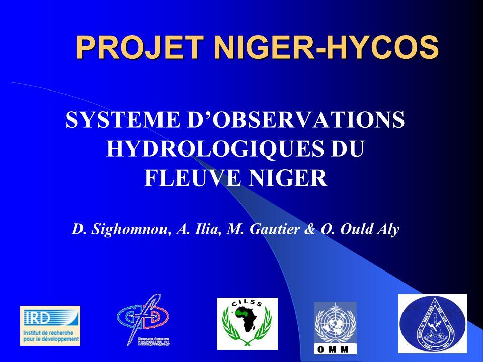 PROJET NIGER-HYCOS SYSTEME D'OBSERVATIONS HYDROLOGIQUES DU FLEUVE NIGER.