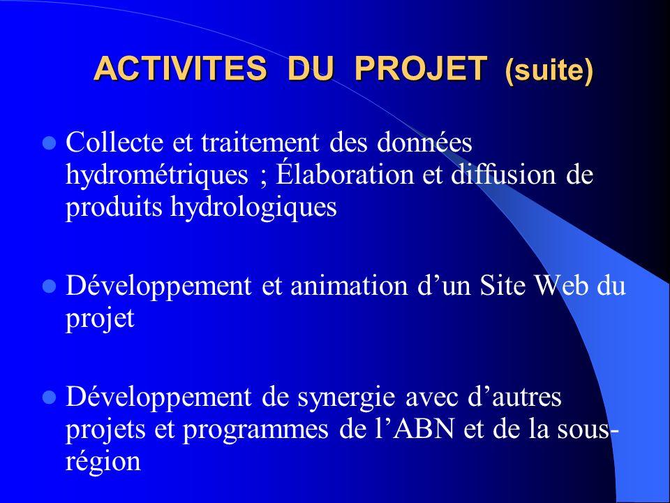 ACTIVITES DU PROJET (suite)