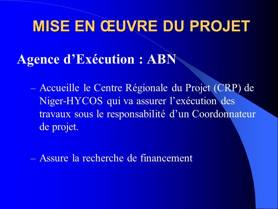 MISE EN ŒUVRE DU PROJET Agence d'Exécution : ABN
